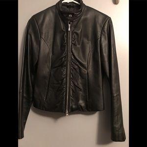 Wilson Leather ladies black leather jacket